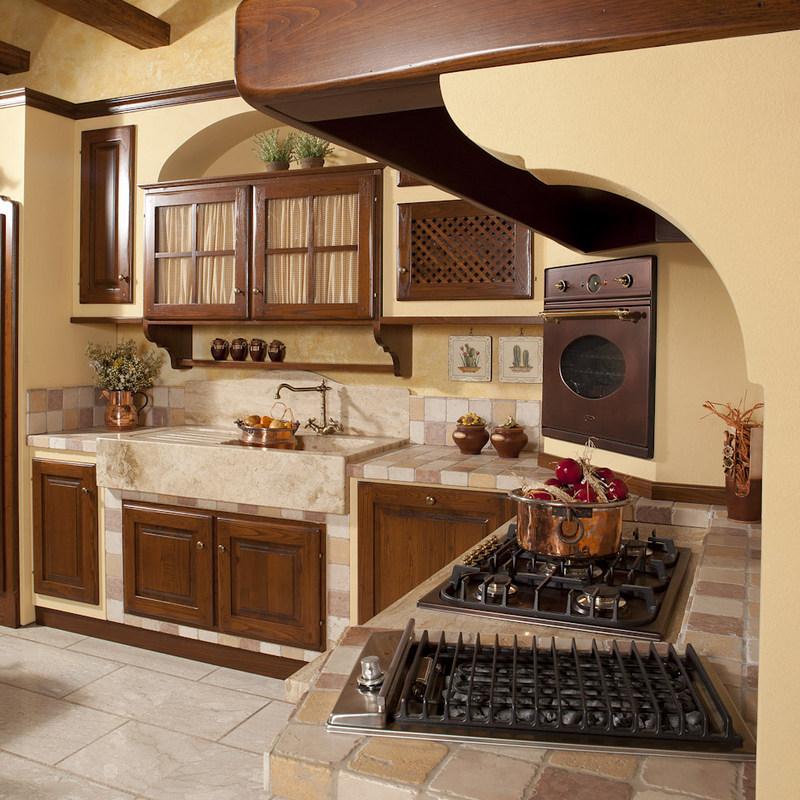Cucina artigianale in muratura