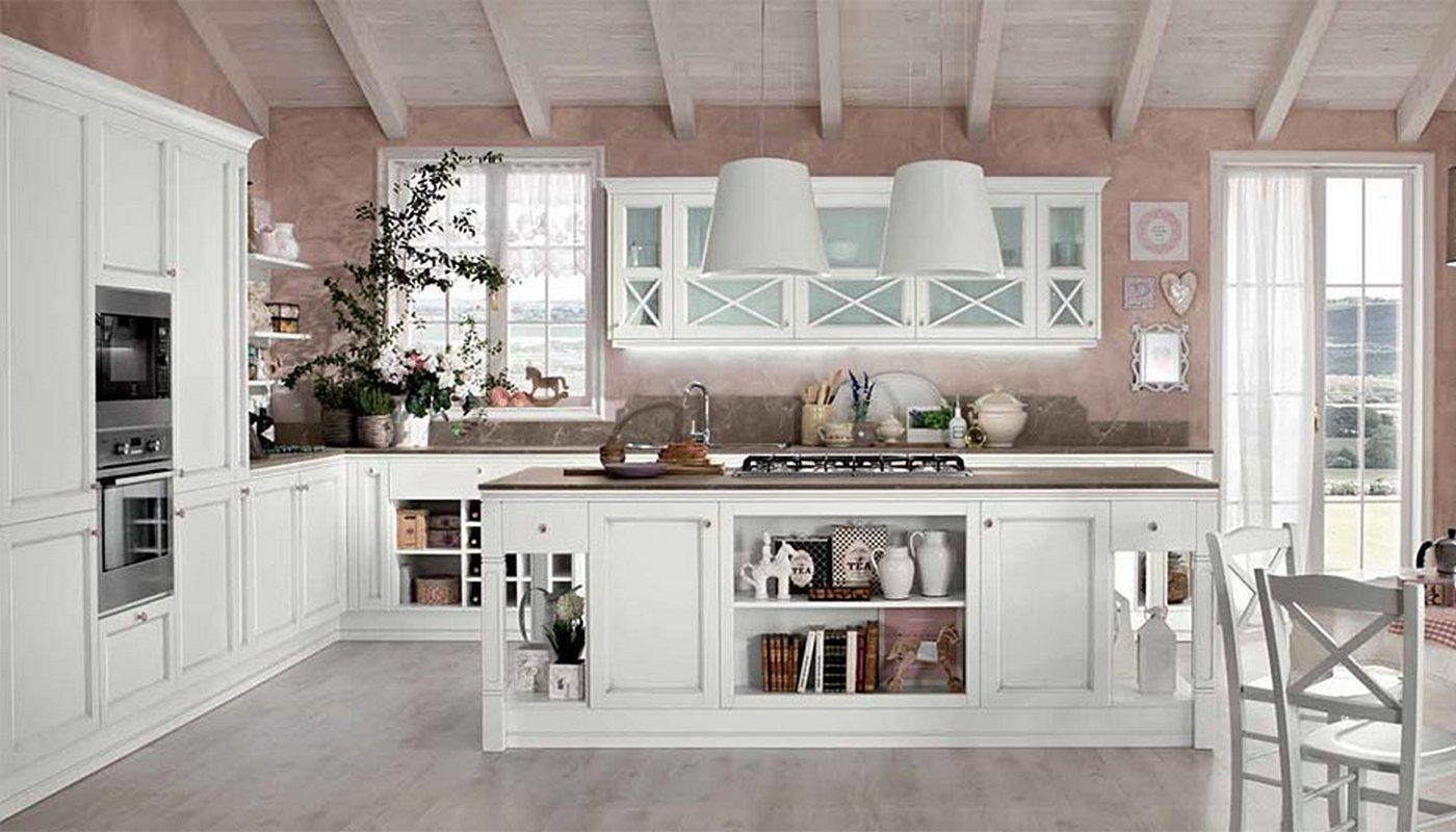 Cucina Shabby chic colore bianco consumato